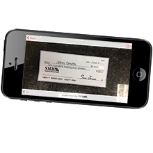 depositing a business check using SMB's Business Mobile Deposit